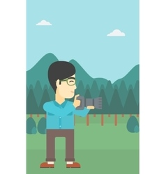 Photographer taking photo vector image vector image