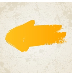 Yellow grunge arrow vector image vector image
