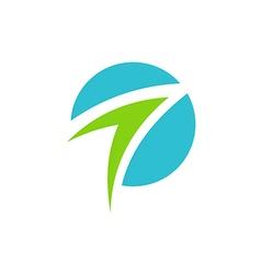 arrow business abstract logo vector image vector image