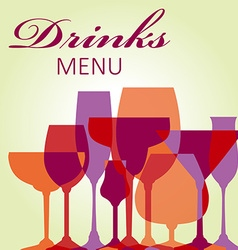 Beverages vector image