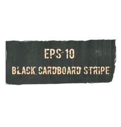 Black cardboard torn stripe vector image