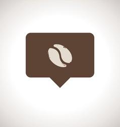 Coffee Shop Notification Icon vector image vector image