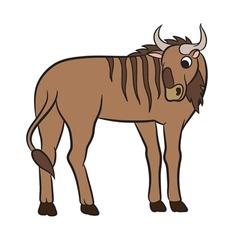 cute antelope gnu vector image vector image