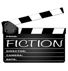fiction clapperboard vector image vector image