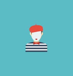 flat icon mime element of vector image vector image