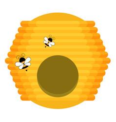 flat of beehive vector image
