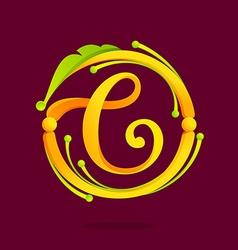 C letter monogram design elements vector