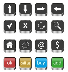 Set of web navigation buttons icons vector image vector image