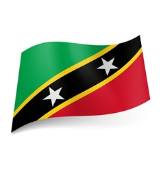 State flag of Saint Kitts and Nevis vector image vector image