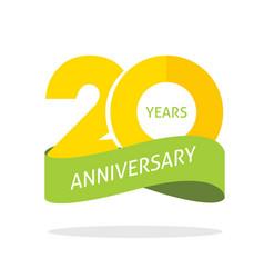 20 years anniversary celebrating logo icon vector image