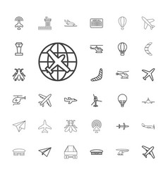 33 flight icons vector