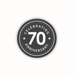70 years anniversary celebrating retro vintage vector