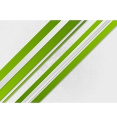 Abstract green corporate stripes background vector