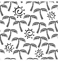 Abstract monochrome seamless childish vector