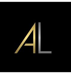 Al letters logo vector