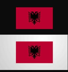 Albania flag banner design vector