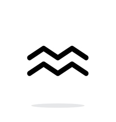 Aquarius zodiac icon on white background vector image
