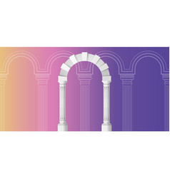 arch design artline on background ancient vector image