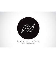 Av modern leter logo design with black and white vector