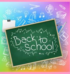 Back to school banner design vector