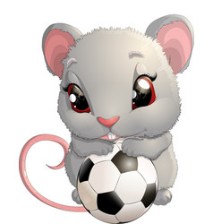 beautiful cute mouse vector image