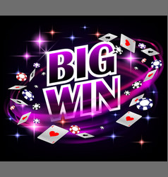 biw win casino gambling poker design poker banner vector image