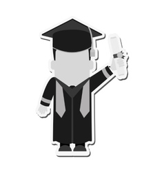 boy graduation cap design vector image