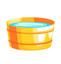 brass bucket filled with water part of russian vector image