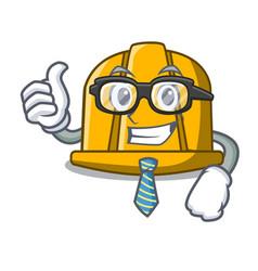 businessman construction helmet character cartoon vector image