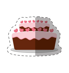 cake pastry dessert shadow vector image vector image
