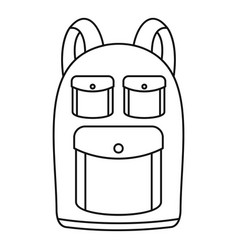 Camp backpack icon outline style vector