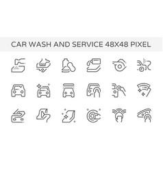 car wash service icon vector image