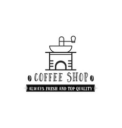 coffee shop hipster vintage stylized lettering vector image