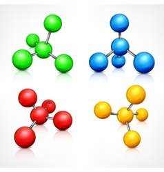 Color molecules on white vector