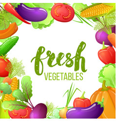 Colorful cartoon vegetables vector