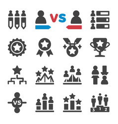 Competition icon set vector