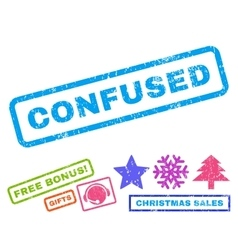 Confused Rubber Stamp vector