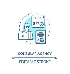 Consular agency concept icon vector