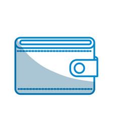 Contour wallet to save money vector