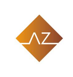 Creative initial letter az square logo design vector