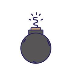 Danger bomb weapon to explode destruction vector