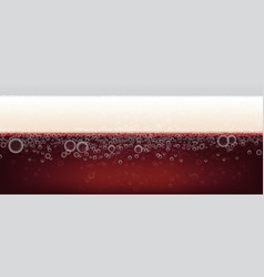 Dark beer background with foam background vector