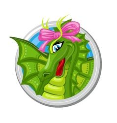 Dragon Virgo Zodiac sign vector image