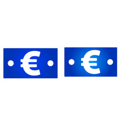euro bill icon vector image