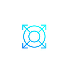Expand increase line icon vector