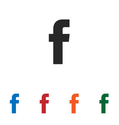 f letter icon vector image