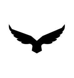 Falcon soaring rising wings logo design vector