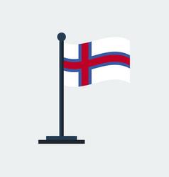 flag of faroe-islandsflag stand vector image