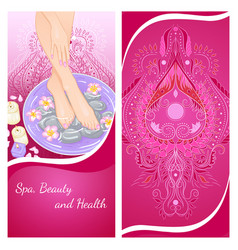 Foot bath flyer vector