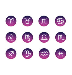 freehand zodiac signs with space background vector image